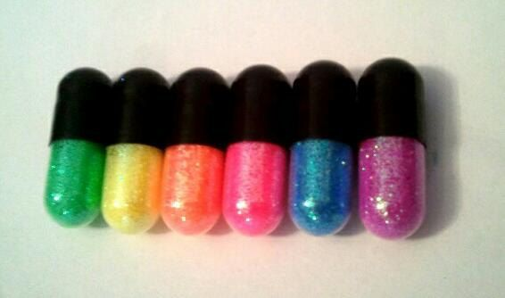 Rainbow Glitter Pills. Every girl needs glitter on their outfits