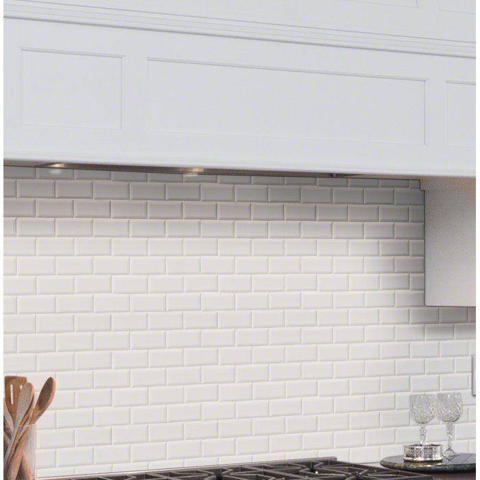 Staggered Beveled 2 X 4 Porcelain Subway Tile In White Staggered Beveled 2 X 4 Porcelain Subway Tile In 2020 Subway Tile Porcelain Mosaic Tile Ceramic Subway Tile