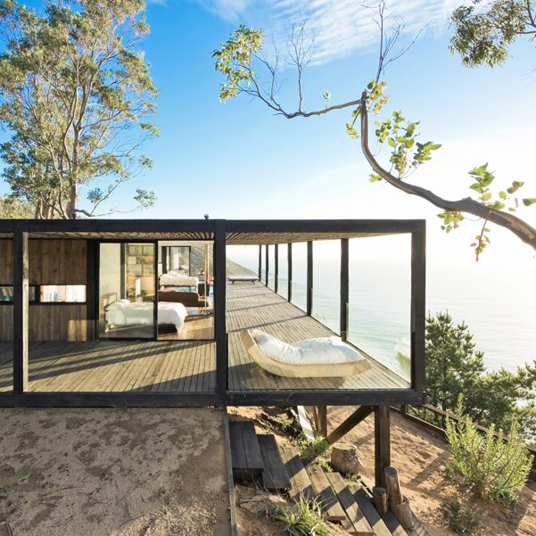 Perched seemingly on the very top of the world, is Casa Till, a new private  home by WMR Arquitectos.