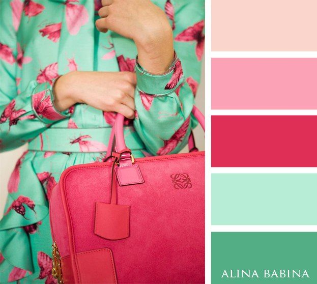 Mint and pink                                                                                                                                                      More