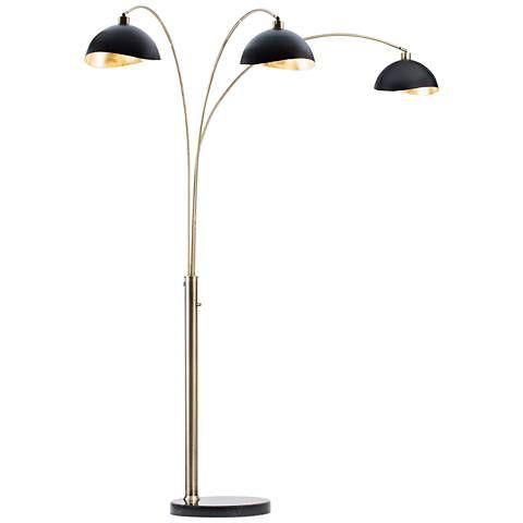 nova luna bella weathered brass 3light arc floor lamp