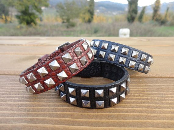 Check out this item in my Etsy shop https://www.etsy.com/pt/listing/508849123/leather-cuff-bracelet-cairo-by-mutation