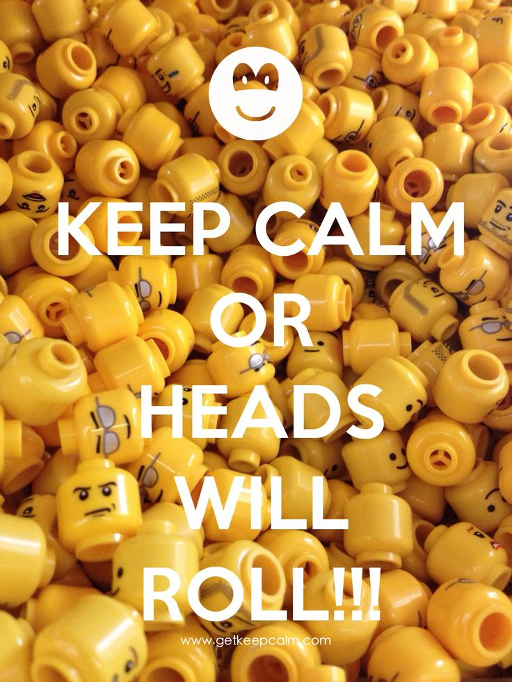 KEEP CALM OR HEADS WILL ROLL!!! by IEC