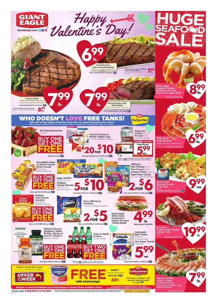 Giant Eagle Weekly Ad February 9 - 15, 2017 - http://www.olcatalog.com/grocery/giant-eagle-weekly-ad.html