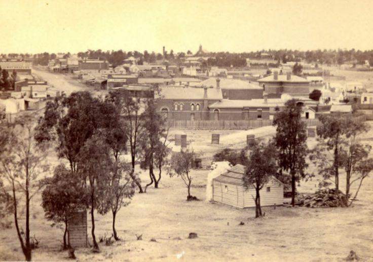 Township of Eaglehawk (near Bendigo) 1875 - Victoria, Australia. Image courtesy of Museum Victoria