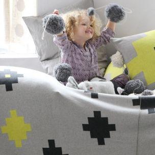 Tetris knit Blanket . Cotton . kids interiors