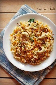 carrot rice recipe, carrot rice