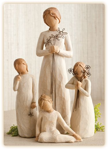 Mother of 3 Willow Tree - I want something like this for this year. Just me and the girls for 2012. I used to get these figures every year from my MIL. I have to start collecting my own now on.