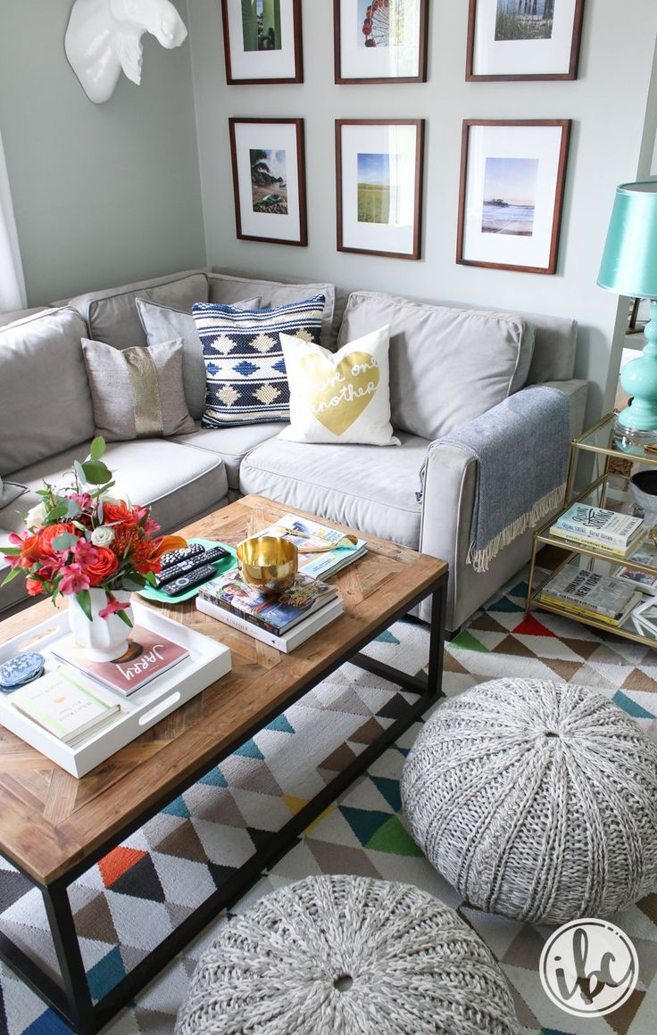 Change the look of your living room with pillows. These blue and gold tribal design pillows are from HomeGoods. They add great texture, pattern, and color to my sectional for the summer season. *sponsored pin*