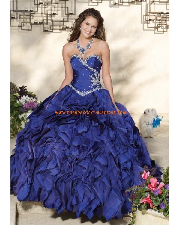 Robe quinceanera sans bretelle col en cœur avec boléro taffetas robe de bal 2013
