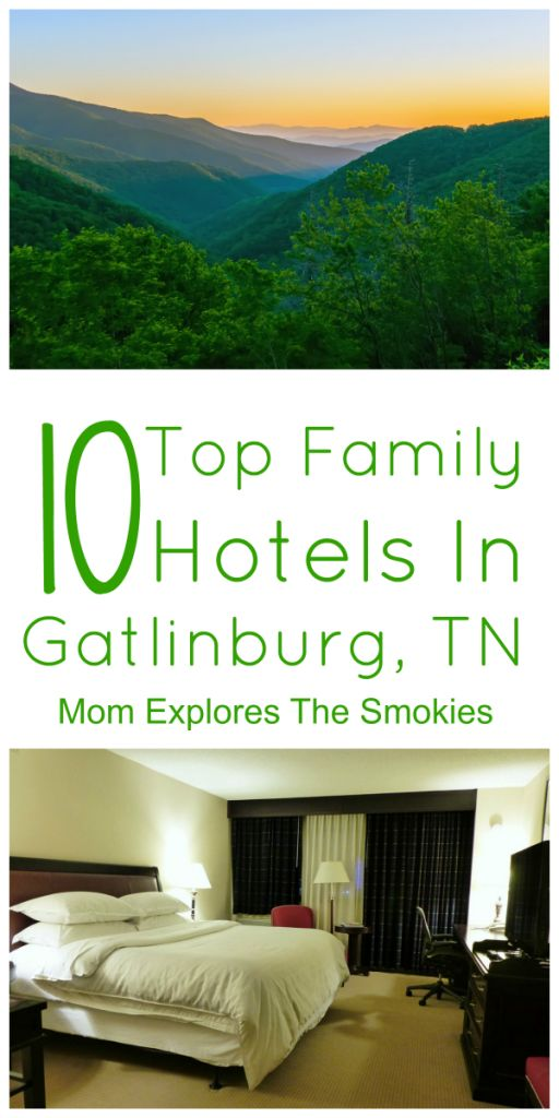 All of these great kid friendly hotels in Gatlinburg include indoor pools, free breakfast and/or kitchenettes.