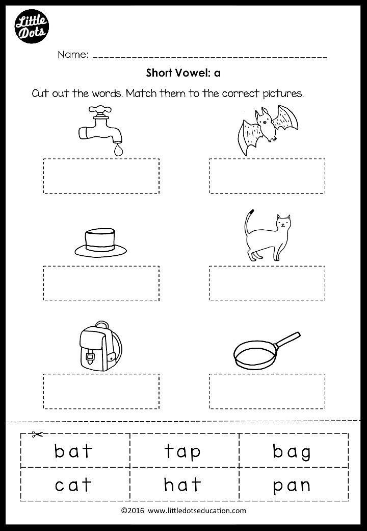Short Vowels Middle Sounds Worksheets And Activities Middle Sounds Worksheet Short Vowel Worksheets Middle Sounds