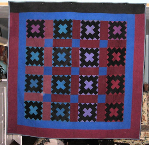 ANTIQUE AMISH ALBUM PATCH QUILT ~