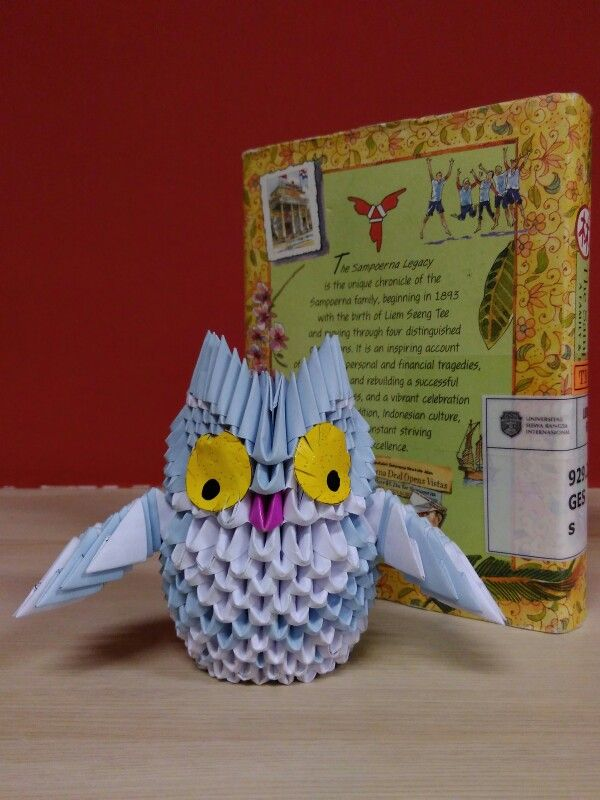 White - Blue Owl, with the yellow eyes.  We can make it for you.