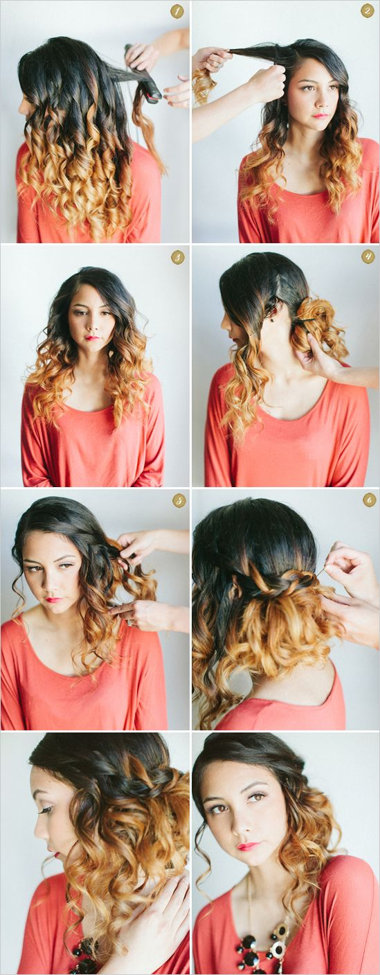 wedding hair, bigger on top and it will be prefect :): Hair Ideas, Wedding Hair, Hairstyles, Hair Styles, Makeup, Hair Tutorial, Waterfall Braids, Updo, Hair Color