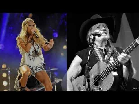 Willie Nelson & Carrie Underwood's Duet Of 'Always On My Mind' Will Le | Country Rebel Clothing Co.