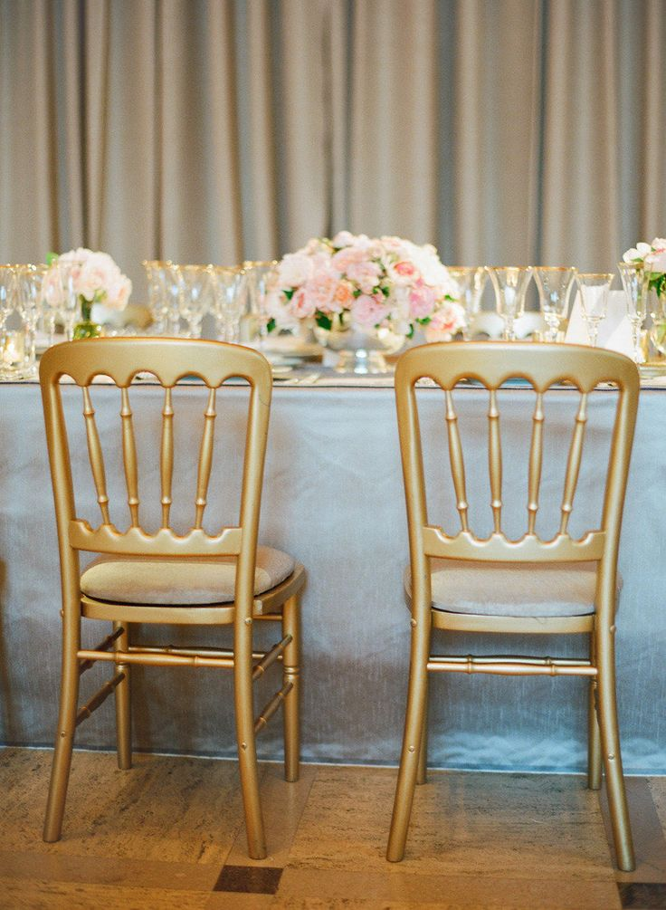 #gold, #chairs  Photography: Jose Villa Photography - josevillaphoto.com Event and Floral Design: Kathleen Deery Design - kathleendeerydesign.com Planning: Laurie Arons Special Events - lauriearons.com/  Read More: http://www.stylemepretty.com/2013/07/25/kathleen-deerys-san-francisco-wedding-from-jose-villa/
