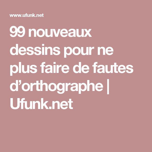 99 nouveaux dessins pour ne plus faire de fautes d'orthographe | Ufunk.net