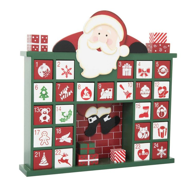 29,99 € |Calendrier de l'Avent en bois 30 x 32 cm CHEMINÉE  Que serait Noël sans son calendrier de l'avent ?