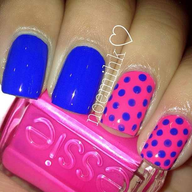 1000+ Ideas About Pink Blue Nails On Pinterest