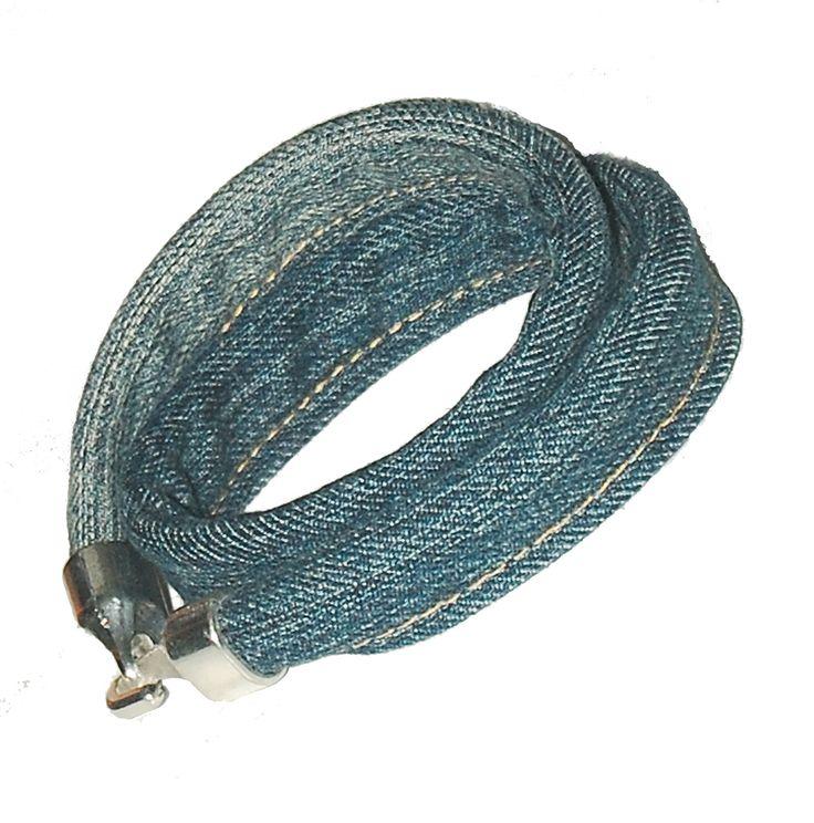 Jeansówka z hakiem  Blue jeans bracelet with a hook
