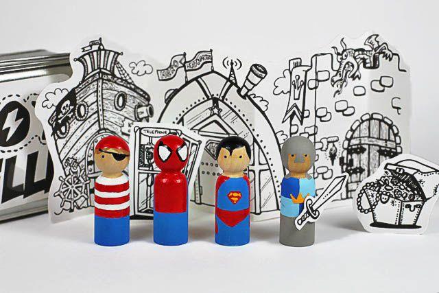 Wooden Boy Dolls...this too: Wooden Dolls, Peg People, Boys Crafts, Wooden Peg, Boys Gifts, Peg Dolls, Action Figures, Super Heroes Crafts, Diy Superhero