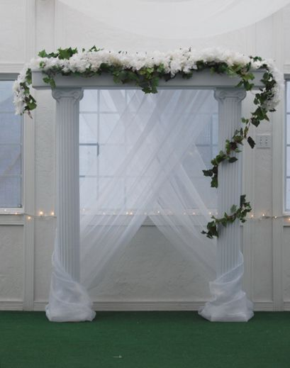 Pic Of Wedding Columns Are Minimal And Based On The Zip Code Your Venue Let Us Shine Archway Pinterest