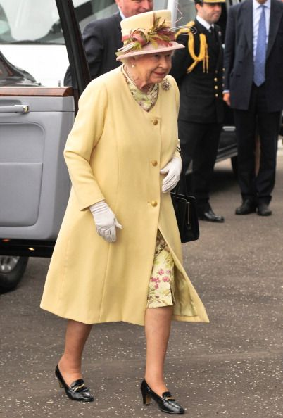 Queen Elizabeth II arrives at the Sir Chris Hoy Velodrome in Glasgow... News Photo 451599150