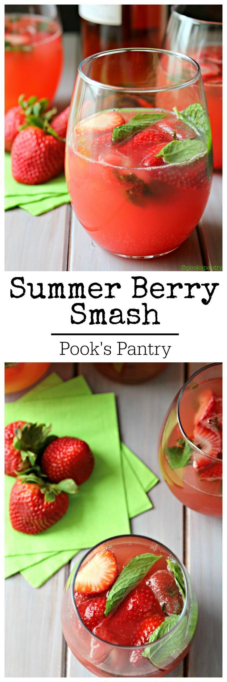 A light and refreshing cocktail.  It's the best of summer in a glass! Made with fresh watermelon juice and ripe strawberries, rosé and a splash of huckleberry vodka!