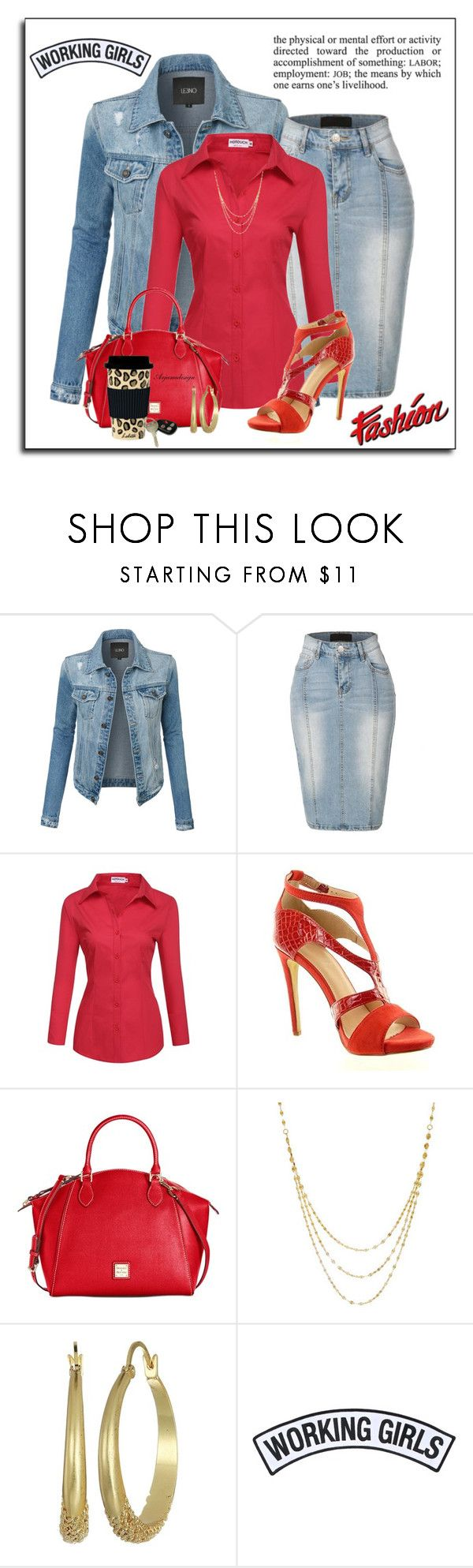 """""""HUMP DAY WORK OUTFIT"""" by arjanadesign ❤ liked on Polyvore featuring LE3NO, Dooney & Bourke, Vince Camuto, C.R. Gibson, Working Girls, WorkWear, dooneyandburke, le3no and hotouch"""