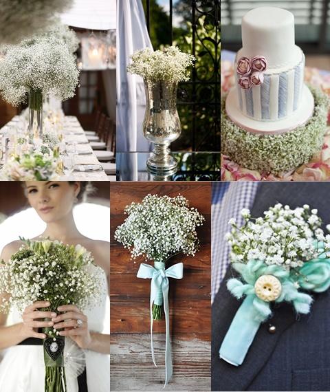 Decoración de bodas con flor nube.