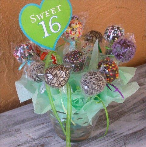 Sweet 16 Birthday Cake Pops Bouquet Birthday Cakes