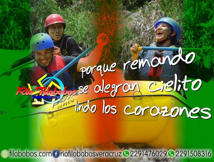 ¡ Porque #remando se alegran cielito lindo los #corazones ! http://www.filobobos.com #filobobos #Veracruz