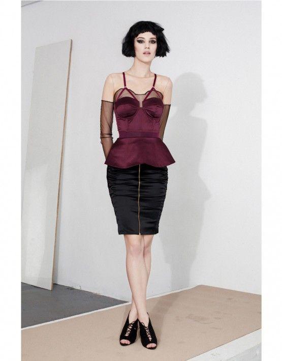 Lucent corset-bondage skirt