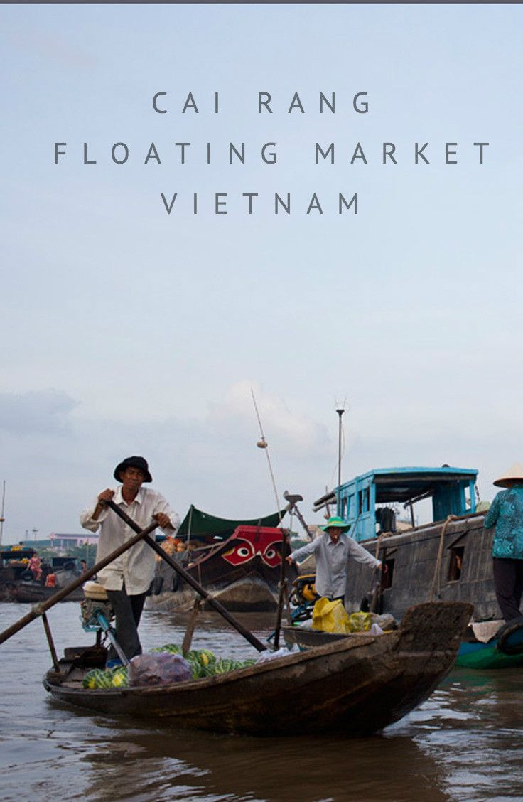 Cai Rang Floating Market in the Mekong Delta town of Can Tho, Vietnam