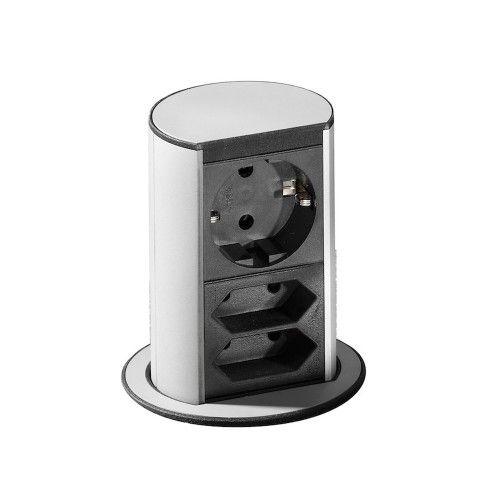 Energiestation Elevator / Steckdosen versenkbar / Steckdosenleiste / Bachmann