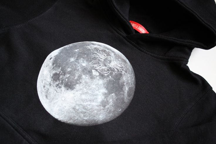 all time favorite / full moon graphic hoodie / eco / organic / fair trade / vegan / limited edition