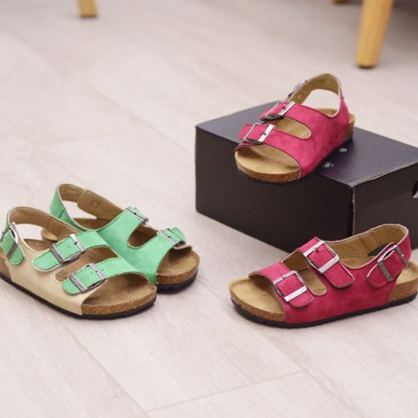 Unisex Kids Casual Flip Flops Softwood Beach Sandals Online - NewChic