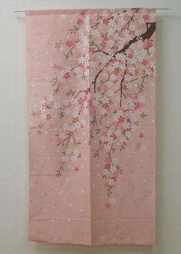 Japanese Noren Curtain Sakura Cher 9894016 | eBay