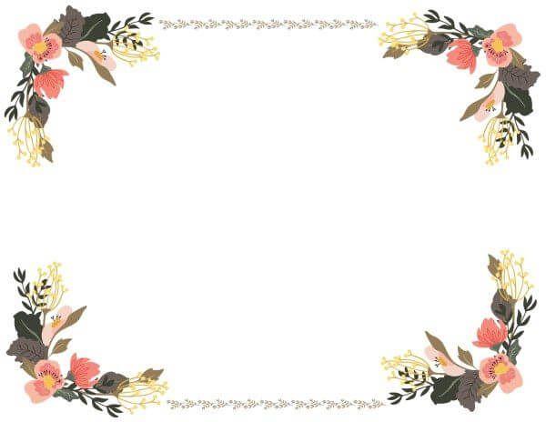 Best 25+ Flower Border Clipart Ideas Only On Pinterest