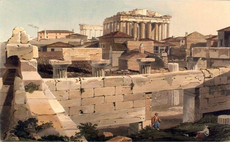 Edward Dodwell, Ακρόπολις,Views in Greece ,1821