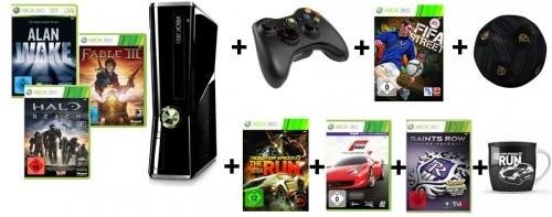 Riesen XBox 360 Bundle mit Konsole, 7 Spielen, 2 Controller, ... !!