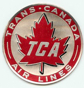 TRANS CANADA VINTAGE AIRLINE LUGGAGE LABEL