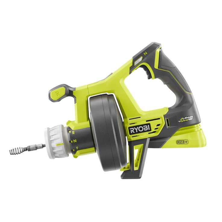 One of the coolest things about the Ryobi P4002 is the capability to run off either corded electricity or 18V Ryobi batteries. Obviously, battery power is more portable, but there probably won't be too many opportunities to use this drain auger where there isn't an outlet nearby.  https://www.protoolreviews.com/tools/plumbing/ryobi-p4002-18v-hybrid-drain-auger/32931/  #Ryobi #DrainAuger #Cordless #DIY #plumbing
