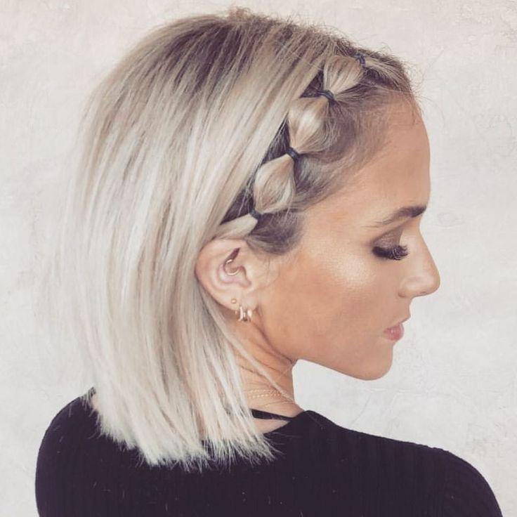 46 elegante penteado curto tranças idéias