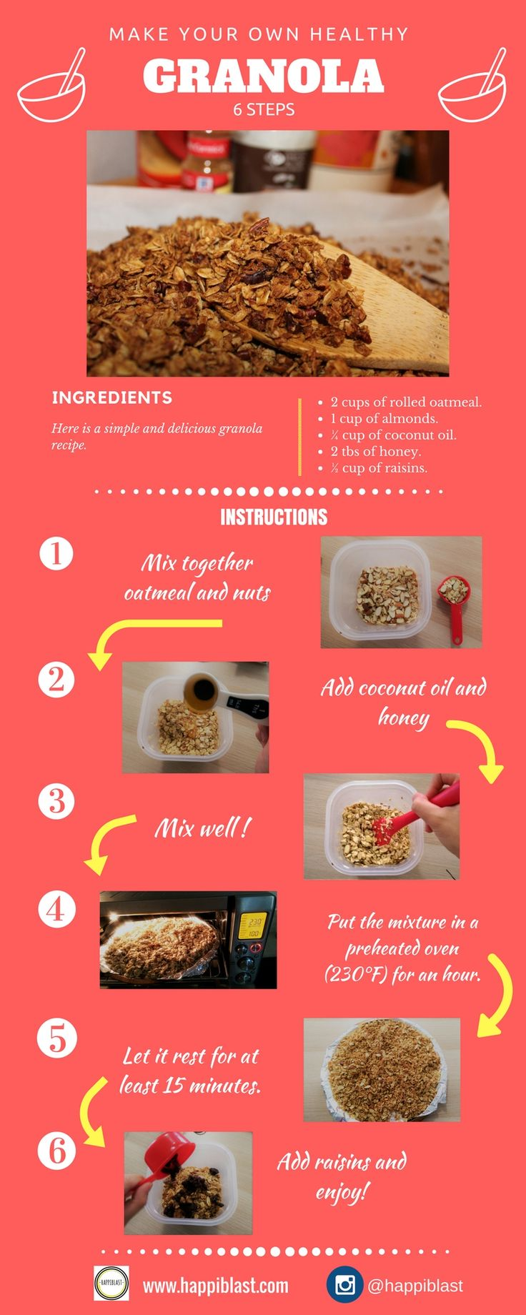Try this easy granola recipe! You will love it!