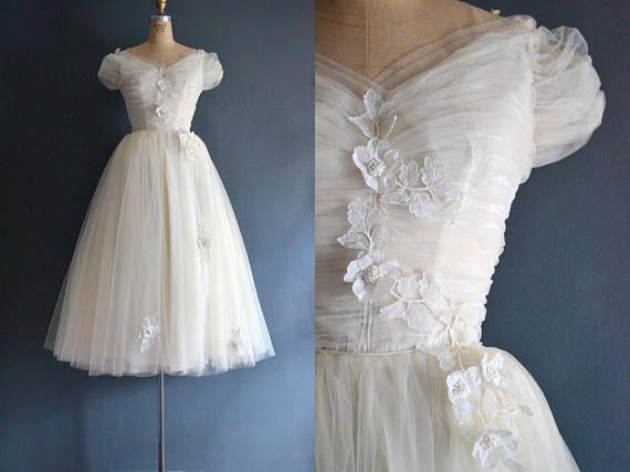 Amy / 50s wedding dress / vintage 1950s wedding dress