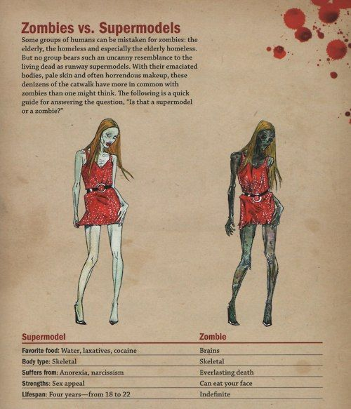 Zombies v Supermodels: Stuff, Funny, Walking Dead, Humor, Zombie Apocalypse, Zombies, Supermodels