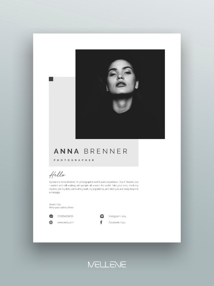 CV, Resume template for MS Word. Professional cover letter. Self presentation, branding design