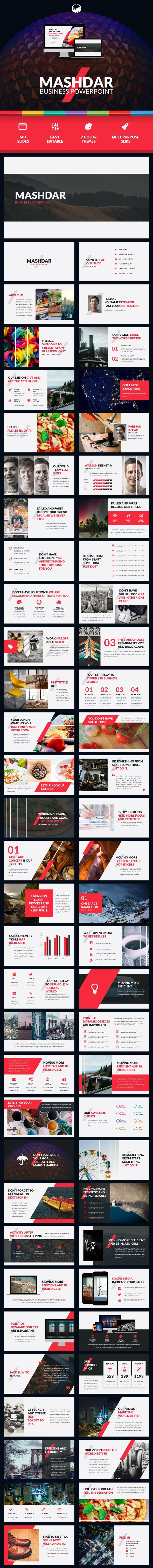 Mashdar - Business PowerPoint - Business #PowerPoint #Templates Download here: https://graphicriver.net/item/mashdar-business-powerpoint/19455477?ref=alena994